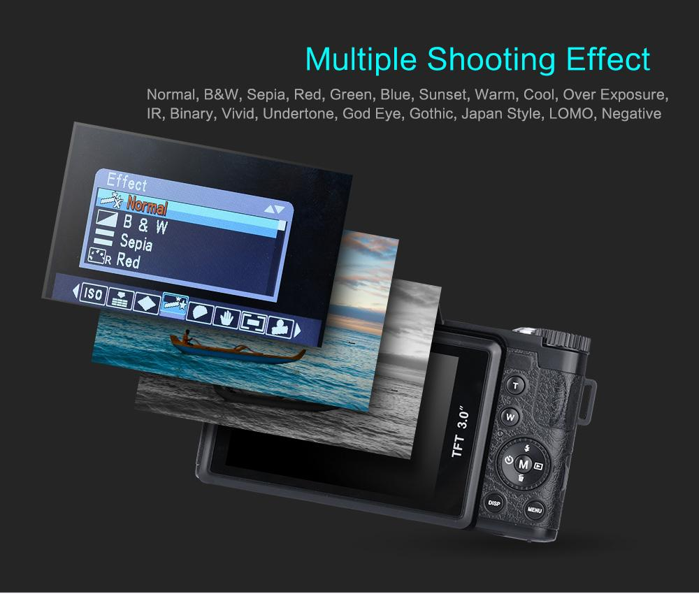 Full HD 24MP 1080 P Profissional Câmera Digital 4X Zoom de 3.0 Polegada Tela de Vídeo Filmadora Gravador DVR Com 52mm de Lente Grande Angular