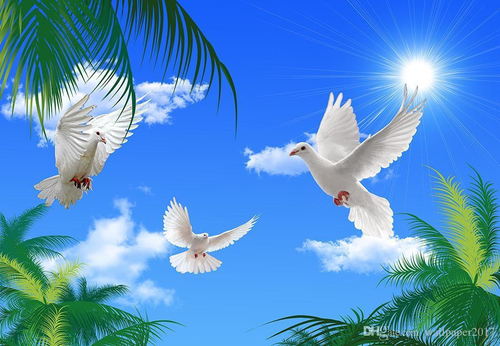 Satın Al Boyama Duvar Kağıdı Hd Fantezi Mavi Gökyüzü Coco Bulutlar