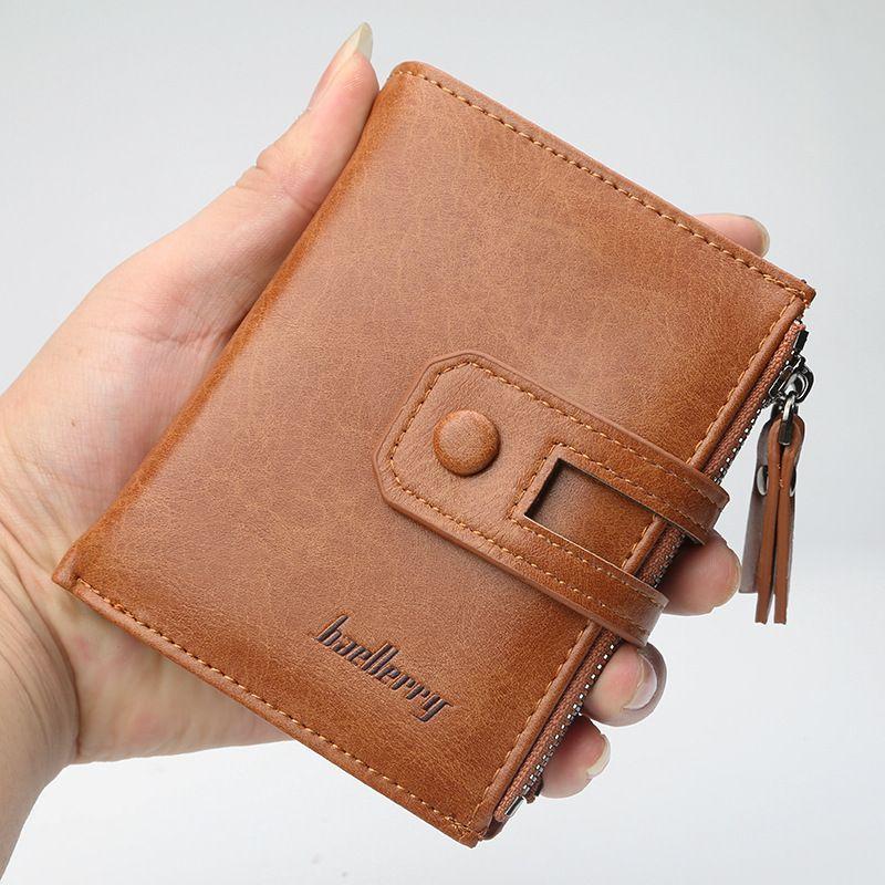 a35ca26e17cd New Wallet Baellerry Brand Short Men Wallets PU Leather Male Purse ...