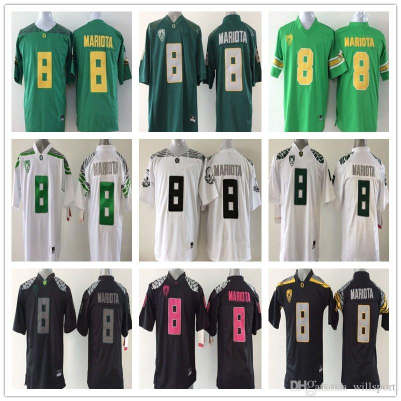 san francisco 08f9a 3aef5 Youth Oregon Ducks 8 Marcus Mariota Kids Boys Children College Football  Jersey