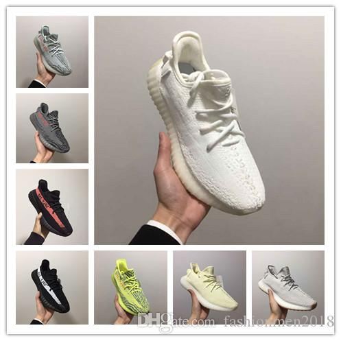 promo code 186d9 d427d Compre Adidas NMD Boost Yeezy 350 V2 Semi Frozen Yellow Beluga 2.0 Blue  Tint Zebra Cream Blanco Sply 350 Sports Running Shoes Hombres Mujeres  Zapatillas ...