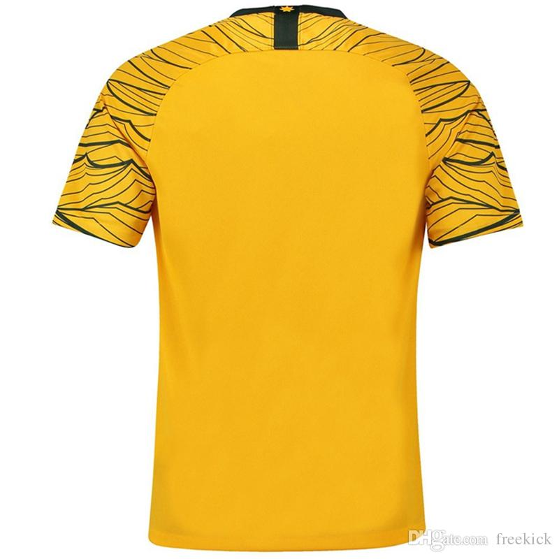 Thail A+++ Quality 2018 World Cup Jerseys Australia Home Yellow And Away  Green Cheap Soccer Jersey 29cea89d0