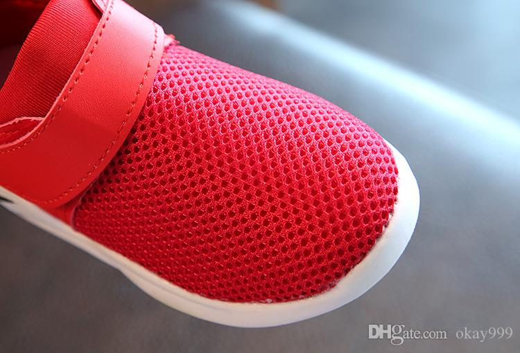 2019 Brand New Spring autumn Non-slip breathable mesh surface airr kids running shoes baby sneakers black white red boys grils sport shoes