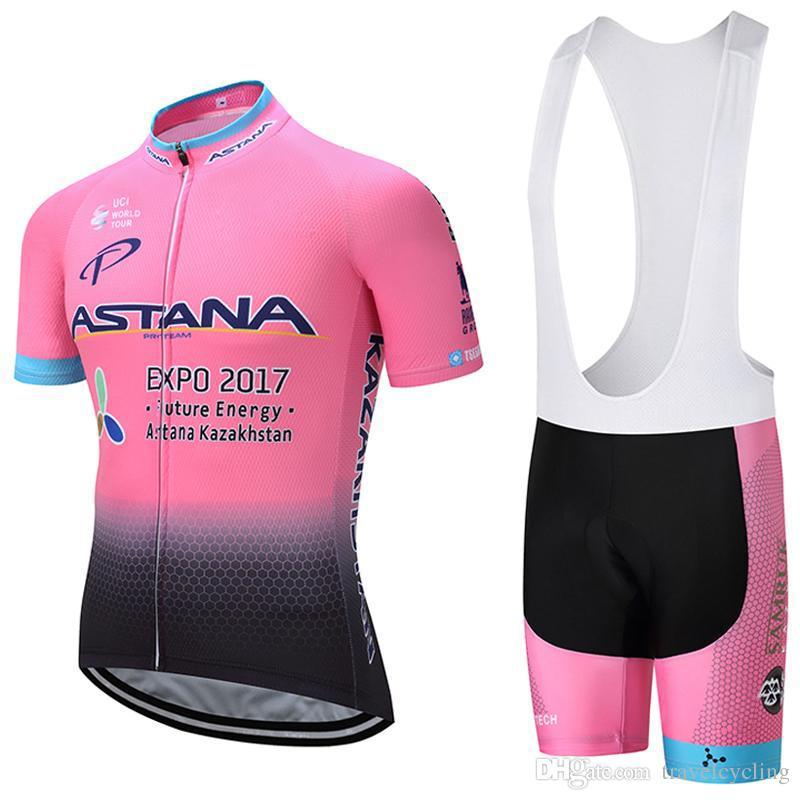 Cycling Jersey Astana 2018 Short Sleeve Summer Racing Shirts Bike Bib Shorts  Cycling Clothes Bike Wear Comfortable Breathable Hot New 91201Y Biking  Jerseys ... f79dfe27d
