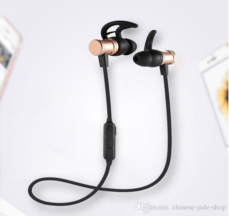 3bd2b589d64 SLS 100 SLS100 Wireless Bluetooth Earphones V4.1 Metal Magnetic Super Bass  Stereo Sport Runing Headphone With Mic For Smartphone PC Headsets For Cell  Phones ...