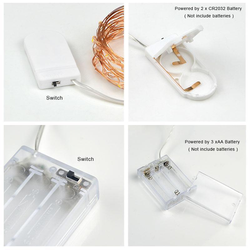 2 M / 5 M LED luz noturna À Prova D 'Água Operado Por Bateria USB LED luz Corda Fada Luz Faixa de Lâmpada Xmas Lanterna Festa Em Casa