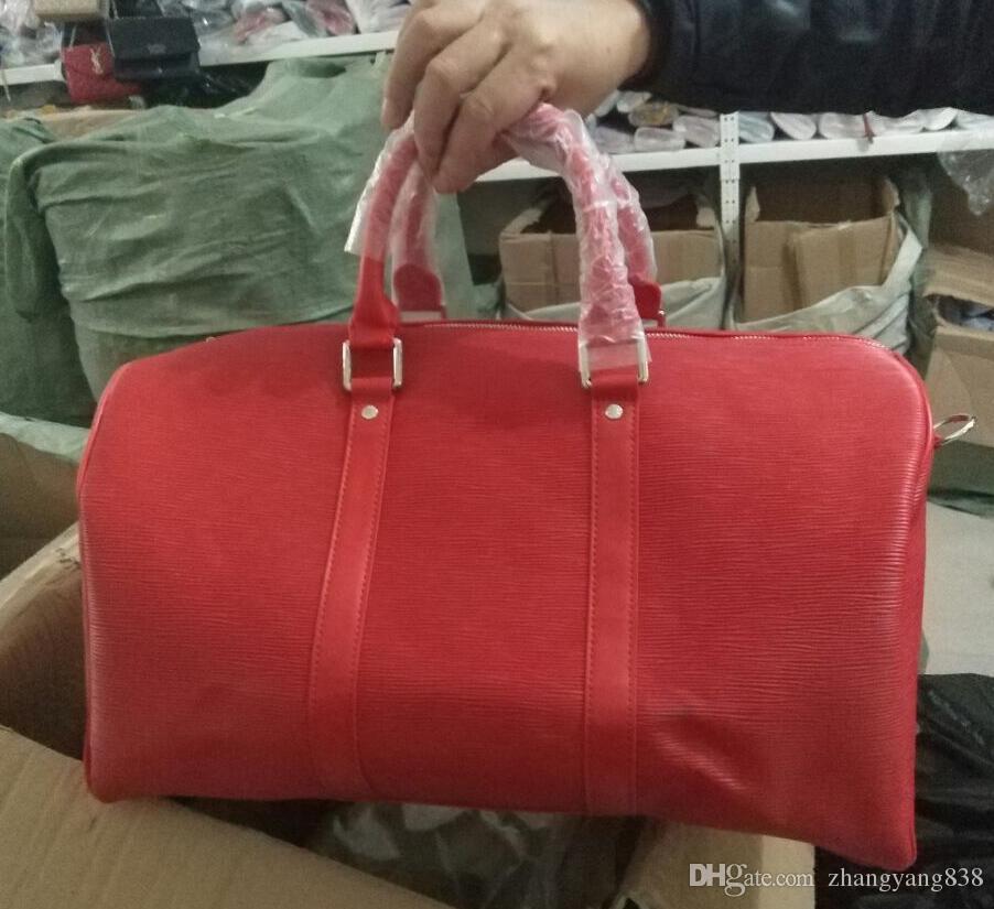 Red New Fashion Men Women Travel Bag Duffle Bag c590d0617edf8