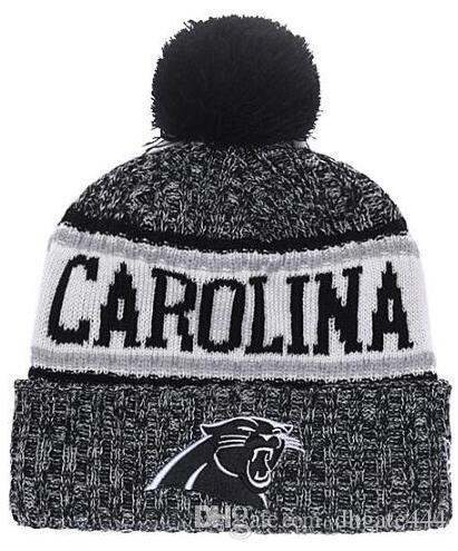 Winter Panthers Beanie Sideline Cold Weather Graphite Sport Knit Hat ... 9d1bf349e87