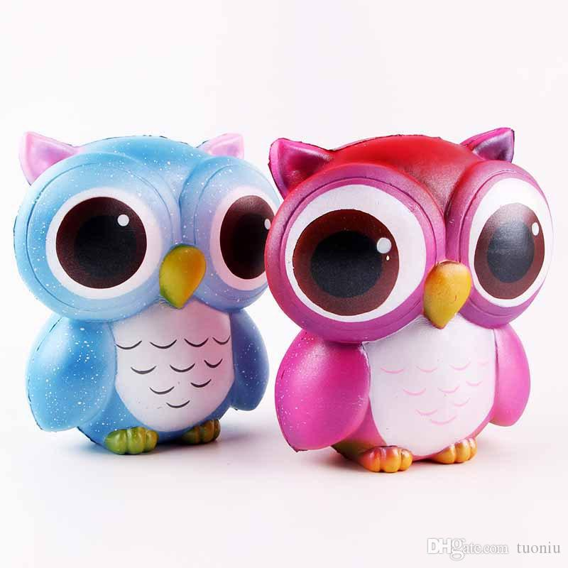 Squishy Toy Strawberry Cake ice cream chocolate owl squishies Slow Rising Soft Squeeze Cute Strap gift Stress children toys