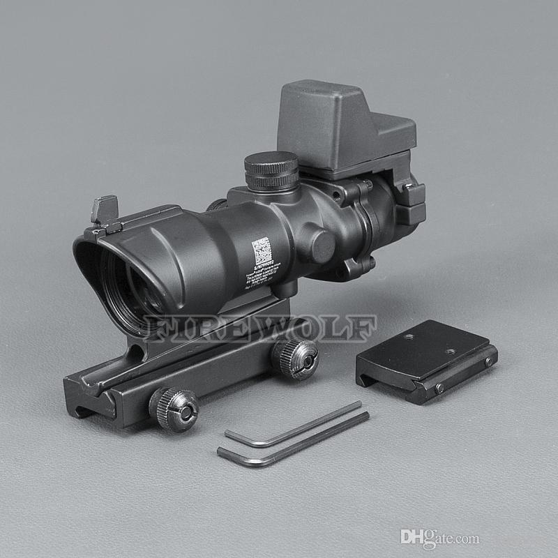 Trijicon ACOG Style 4x32 Alcance con Docter Mini Red Dot Light Sensor Negro para cazar ENVÍO GRATIS