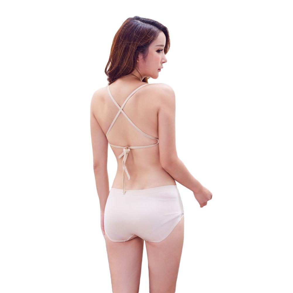 54086c444a 2019 Sexy Women Girls Bandage Bra 3 4 Cup Push Up Padded Bralette Underwire  Deep V Bra Lingerie Underwear Beige Black From Fangfen
