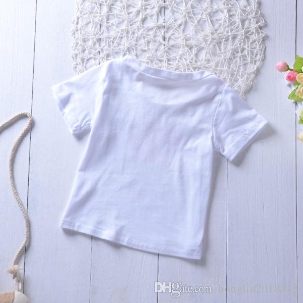 New Children's Clothing Summer Girls Short Sleeve Rose Flower Shirt Tops Short Skirt Set Kids Clothes Suit KA786