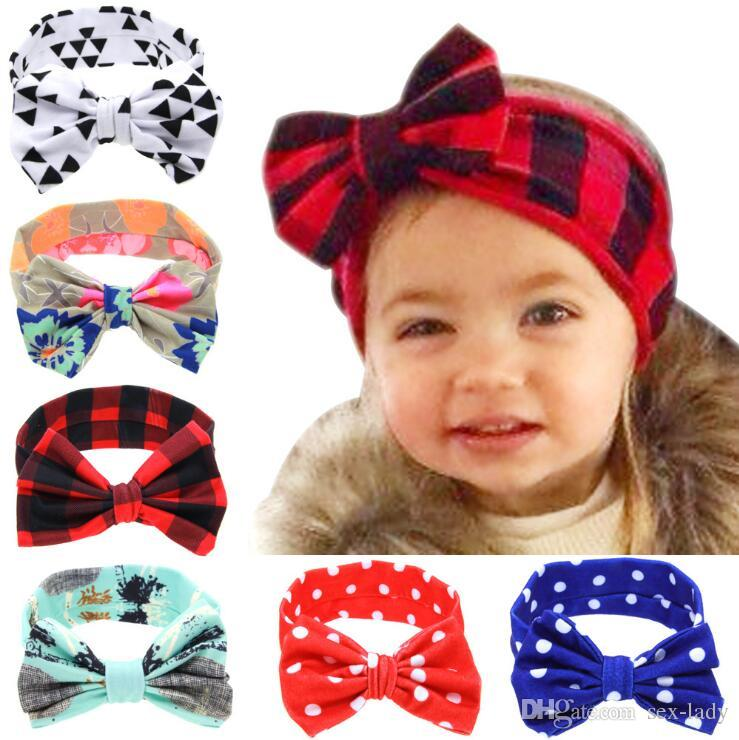 cd94b0459b9a Hot Selling New Fashion Hair Bands Headband Kids Hair Accessories Baby Cute  DIY Rabbit Ears Elastic Cloth Bowknot Headband Wedding Flower Hair  Accessories ...