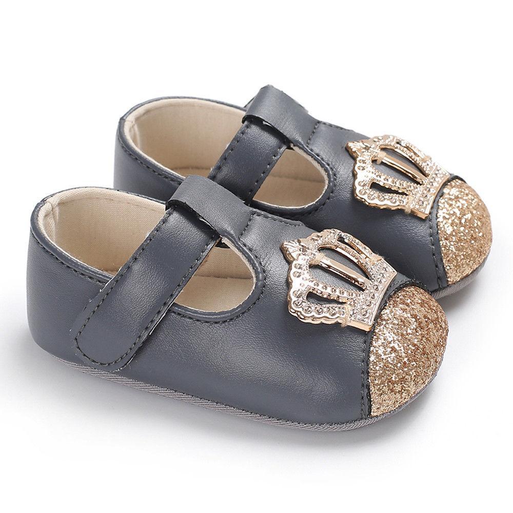 Pudcoco Neugeborenen Baby Mädchen Weiche Sohle Leder Krippe Schuhe Prinzessin Anti-slip Sneaker 0-18months Mutter & Kinder