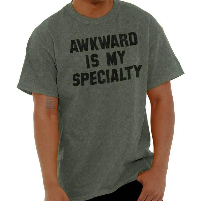 ac2cf8767ca45 Details zu Awkward Is My Specialty Funny Shirt Geek Gift Idea Nerd Cool T  Shirt Funny free shipping Unisex Casual gift