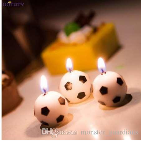 Grosshandel Soccer Ball Fussball Form Alles Gute Zum Geburtstag Kerze