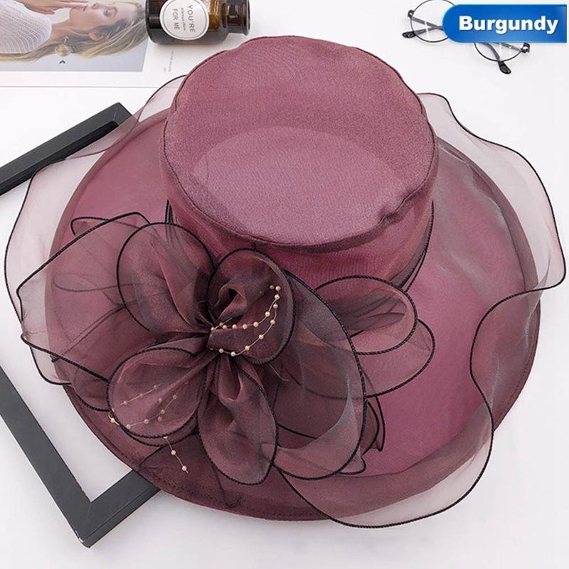 2019 New Trendy Summer Hats For Women Floral Wedding Fedoras Formal Hats  Wide Brim Sunhat Beach Hat From Wonderliu a960433cbb0