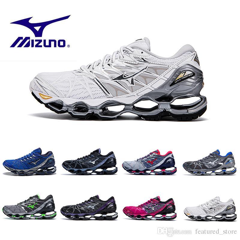 official photos b51be a0797 Compre 2018 Summer Mizuno Wave Prophecy 7 Hombres Zapatos Deportivos De  Diseño Original Mizunos 7s De Alta Calidad Para Hombre Zapatillas De  Deporte ...