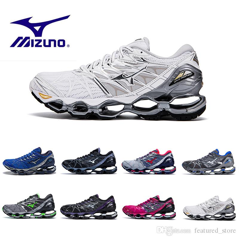 quality design 147f0 f1e2c 2018 Summer Mizuno Wave Prophecy 7 Men Designer Sports Running Shoes  Original High Quality Mizunos 7s Mens Trainers Sneakers Shoes Size36-45