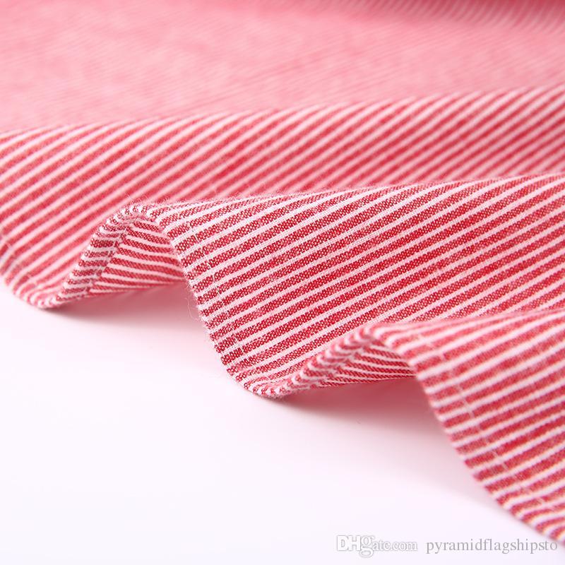 Algodão Marca Venda Quente Moda Masculina Camisa Longo-Mangas Tops Listras Simples Mens Camisas de Vestido Dos Homens Magros Camisa