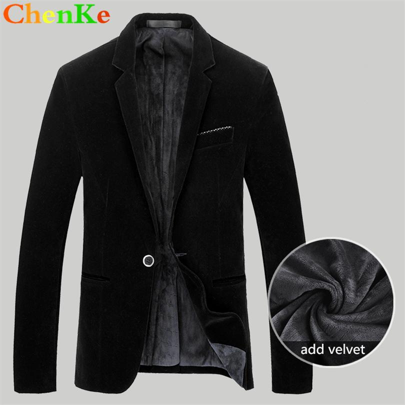 2019 Chenke Mens Blazer High Quality Suit Jacket Korean Fashion