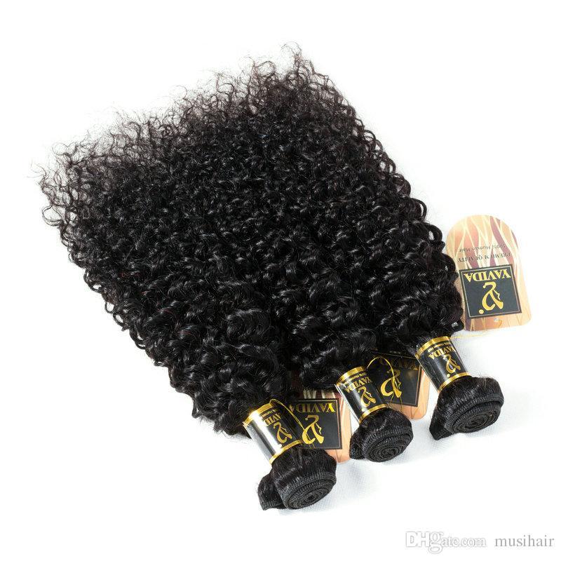 Fulgent Güneş toptan kıvırcık İnsan saç afro kinky saç uzantıları 3 paketler virgin İnsan saç doğal renk dhgate çin tedarikçisi