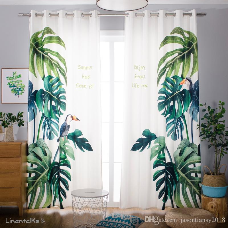 Fashion Window Bedroom Curtains Flamingo Europe Style Blackout Linen Sheer  Finished Curtain Ready Made Curtains Punching U0026 Hooks 2 Panels Curtains  Linen ...