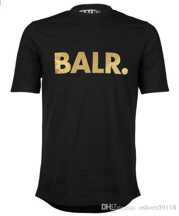 The new 18 explosion models Balr round edge football field European yard T-shirt Football field print