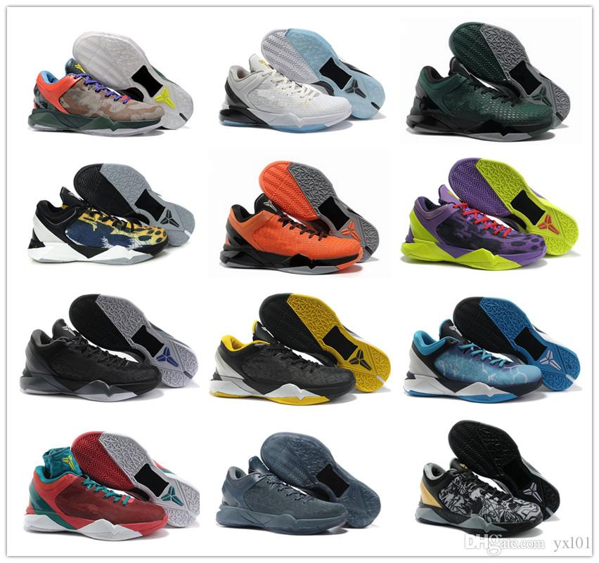 fb953514fe9f 2018 High Quality Kobe 7 VII Elite Master Black Yellow Purple Basketball  Shoes For Cheap Men 7s White Gold Olympic Sport Sneakers Size 40 46 Sneakers  Online ...
