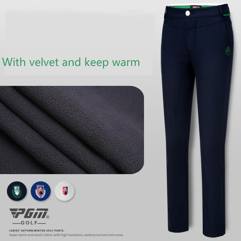 c27ec9e19be 2018 PGM Women s Velvet Golf Pants Lady Slim Spring Pants High ...