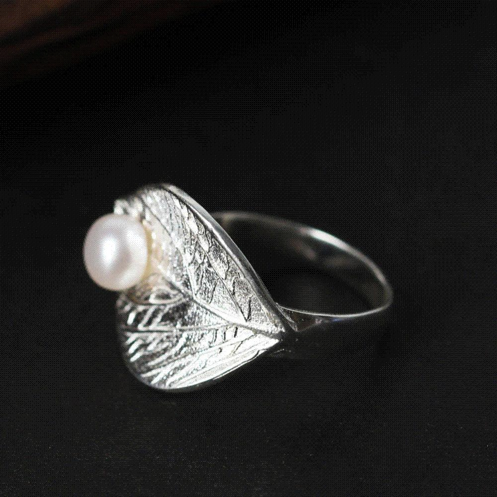 engagement pearl ring real next juliet products oliver michele rings