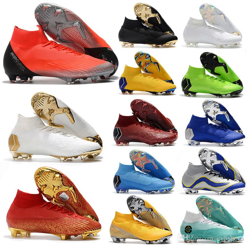 28d275ab4 2019 New World Cup Mens Mercurial Superfly VI 360 Elite FG Soccer Shoes  Neymar JR ACC Outdoor Football Boots Cristiano Ronaldo 12 Soccer Cleats  From ...