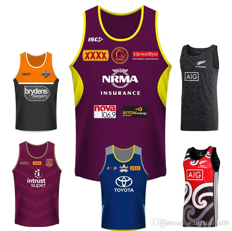 59f2ec6a7 2018 2018 Queensland Maroons Singlet Brisbane Broncos Wests Tigers Maori  All Blacks North Queensland Cowboys Size S 3xl Hurricanes Super Rugby From  ...