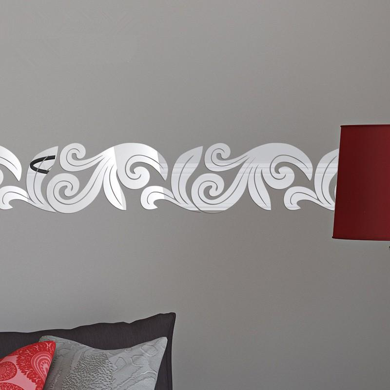 new creative design 3d acrylic mirror wall stickers for the ceiling
