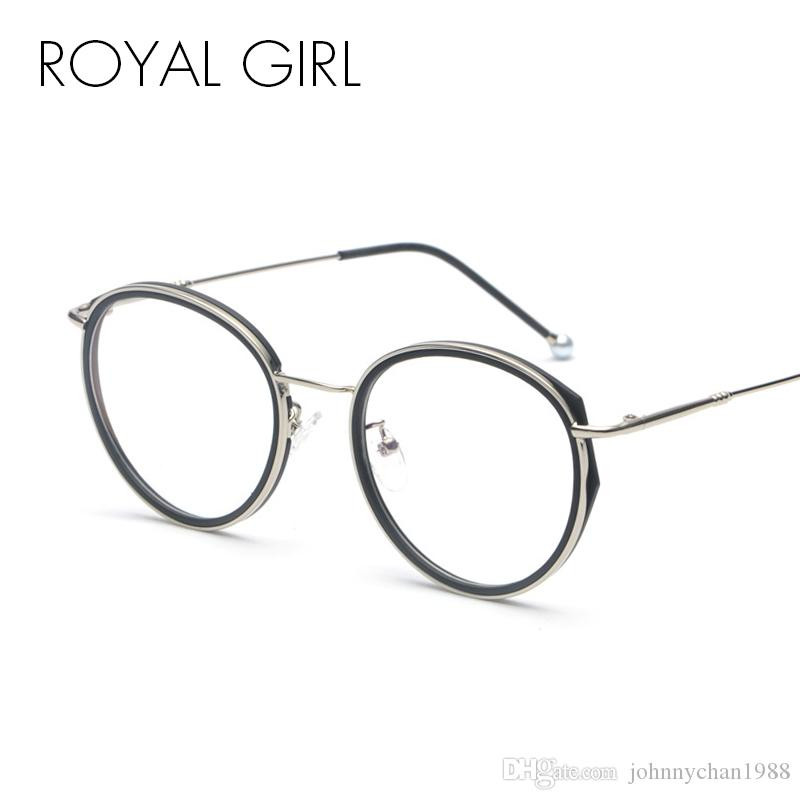 d50bfcc8f3 ROYAL GIRL Retro Pearl Eyeglasses Frame Women Men 2018 Metal Round Circle Glasses  Frames Clear Lens Glasses Oculos Ss982 Designer Sunglasses Sunglasses For  ...