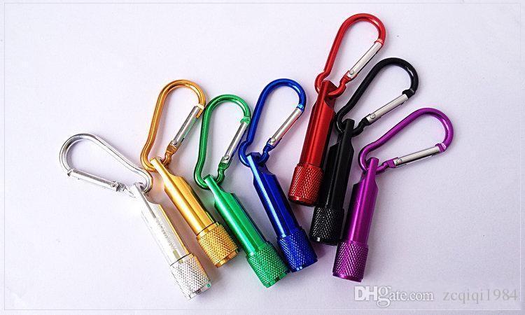موضة جديدة مختلط حار بيع الألومنيوم بقيادة سلسلة المفاتيح البسيطة الشعلة مفتاح المصباح كيرينغ أعلى جودة