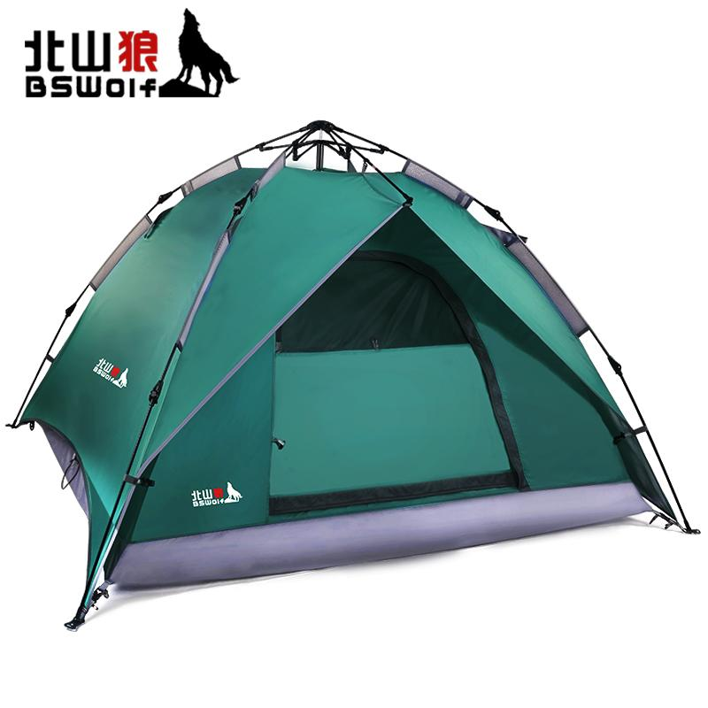 BSWolf 3 4 Person Water Proof Tent Double Layer Pop Up Tent Outdoor C&ing Tent Beach Tents 8 Man Tent From Simmer $199.22| DHgate.Com  sc 1 st  DHgate.com & BSWolf 3 4 Person Water Proof Tent Double Layer Pop Up Tent ...