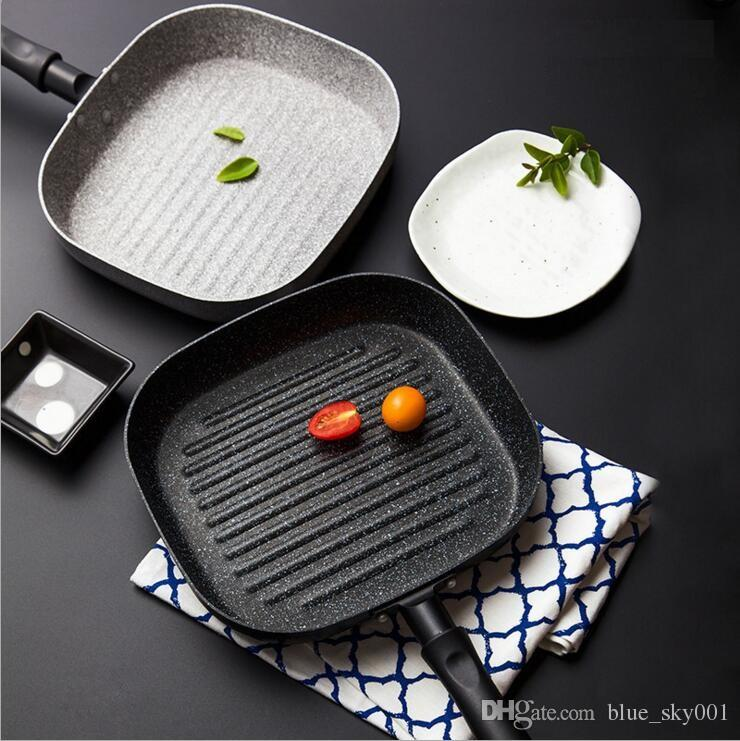 No Oil-smoke Pan Steak Frying Pan Breakfast Frying Eggs Use for Gas Cooker and Induction Cooker Non-Stick Pans kitchen Cooking Helper