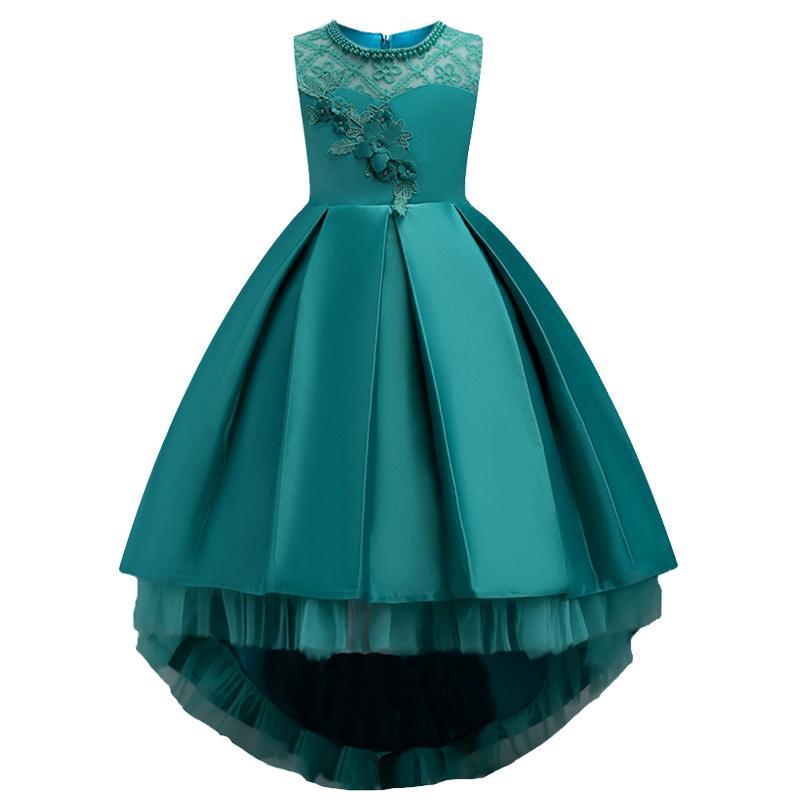 808c87342ec67 ball gown flower Girl floral princess party dress Summer children clothes  wedding Bridesmaid dress girl dress 3-14t baby girl clothing