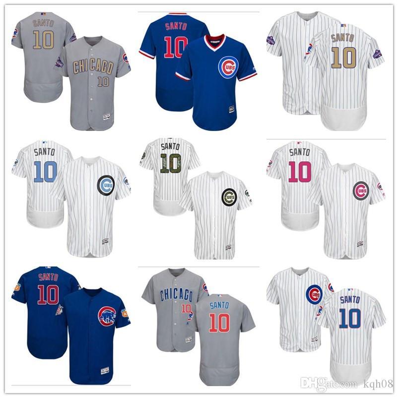 757210d82 2018 Custom Men s Women Youth Majestic Chicago Cubs  10 Ron Santo ...