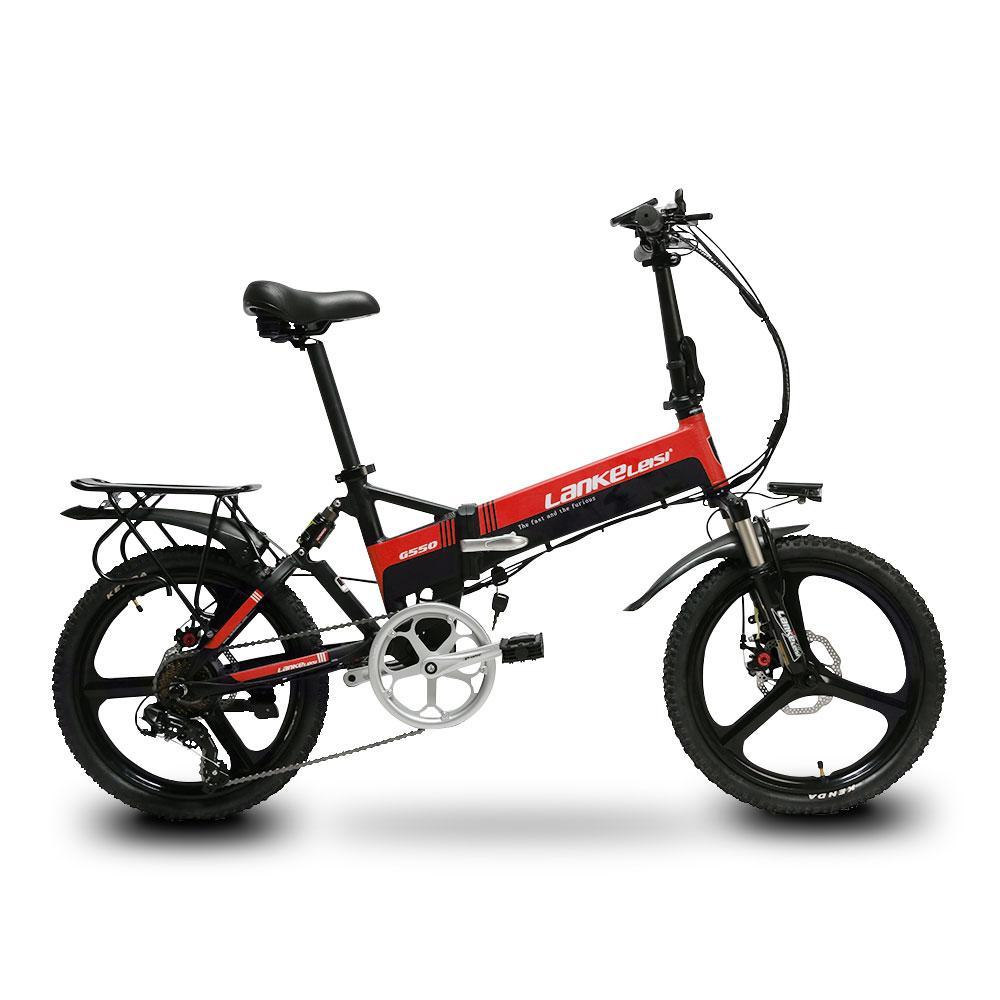 Vendita All Ingrosso G550 Bicicletta Pieghevole Elettrica 240 W 48 V 10ah Completa Sospensione 7 S 5 Impostazione Smart Computer Contachilometri