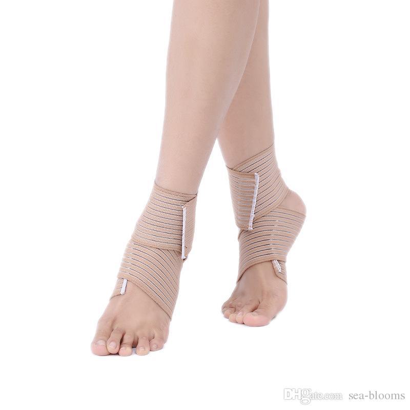 DHL libero elastico traspirante avvolgere caviglia supporto brace compressione ginocchio gomito polso caviglia supporto del piede avvolgere fasciatura sportiva cinturino i G891Q