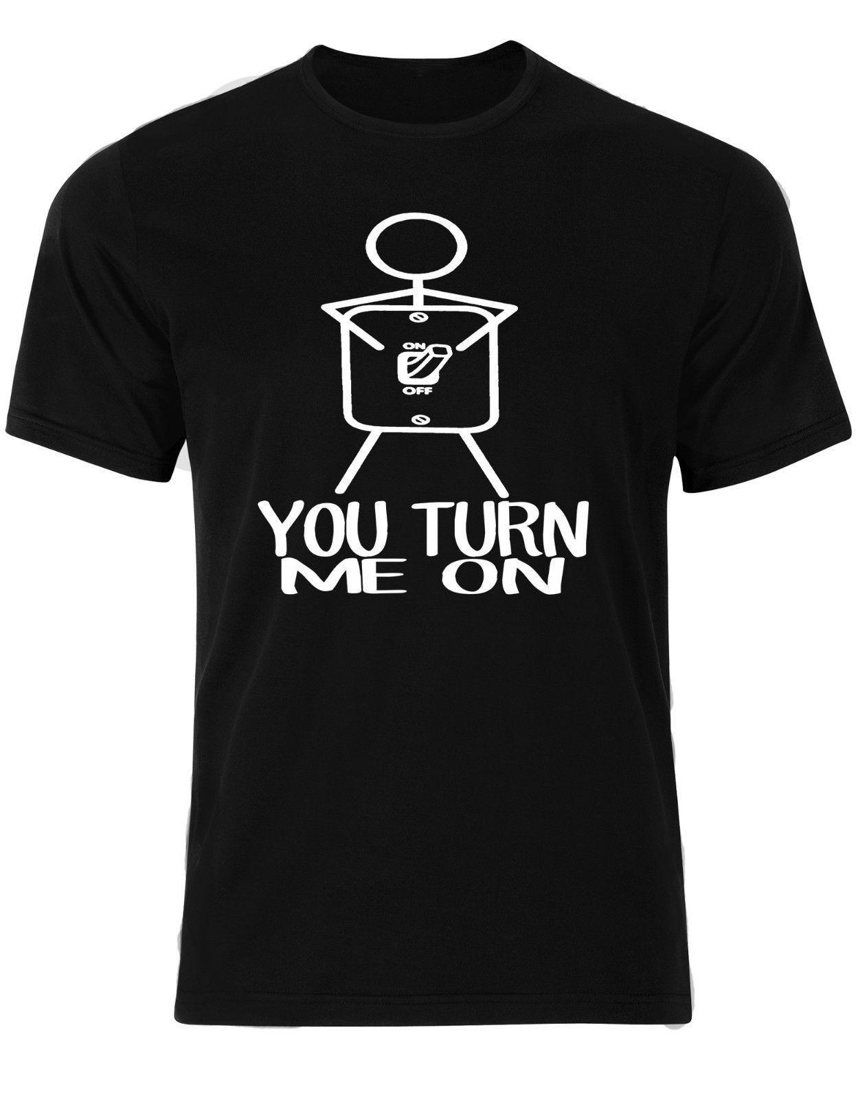 Vous Allumez Moi Drôle Citation Stick Figure Lumière Interrupteur Sur Off Hommes T Shirt Am61 Tshirt Lâche Taille Top Ajax 2018 Drôle