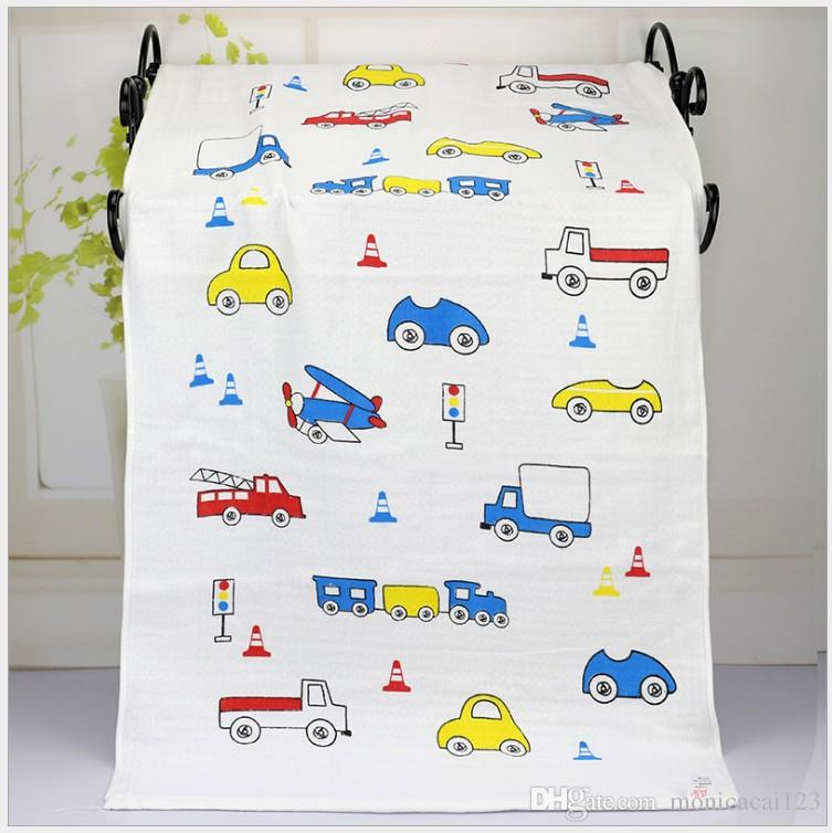 Baby Muslin Swaddles Organic Cotton Wraps Ins Blankets Nursery Bedding Newborn Cartoon Bath Towels Soft Robes Quilt Robes