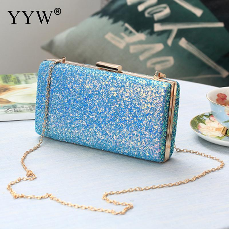 Plastic Clutch Bag With Chain For Women Fashion Evening Bag Sequin ... 431660b868