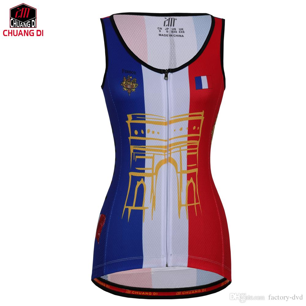 French Women Vest Sport Sleeveless Clothes Running Shirt Mesh Fabric Bike  MTB Road Breathable Sportswear Top Cycling Vest Mens T Shirts Cycling  Jerseys From ... 743e26225