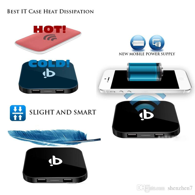 QI standard wireless charger Apple 5s 6plus Samsung S4 S6 and Nokia Q8 wireless charger OTH256