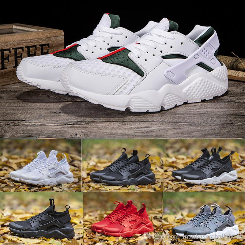 625f75566cb9 New DESIGNER Huarache Ultra Run Running Shoes For Men Triple Black Mesh  Huraches Couple Sneakers Ultra Breathe Sport Shoes Sneakers Zapatos Best  Running ...