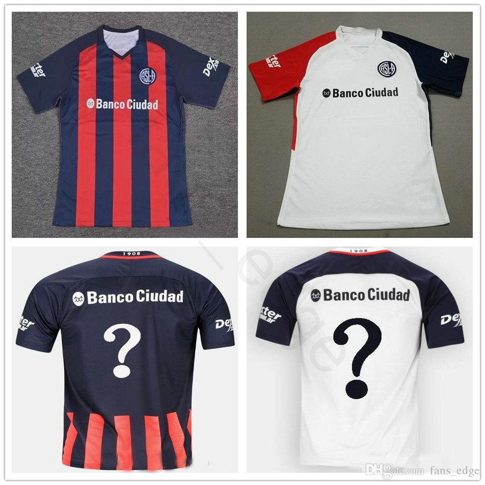 brand new f15c8 05a33 2018 2019 San Lorenzo de Almagro Fußball-Trikot CAUTERUCCIO BARRIENTOS  BLANCO Blanko Customize jedem Namen zu Hause weg rot weiß Fußball-Shirt