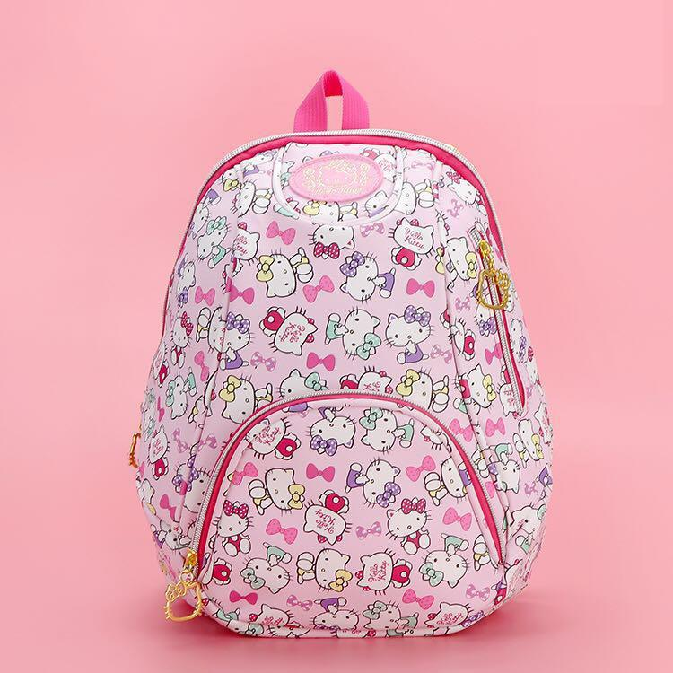 00a722f7f New Cartoon Genuine Hello Kitty Backpack Schoolbag High Quality Pu Pink  Children Primary School Bag Travel Bag For Girls Gift Backpacks For Kids  Backpack ...